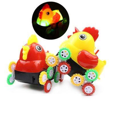 儿童电动玩具翻斗小公鸡翻斗车灯光音乐翻滚遇障碍物翻跟斗车蜜蜂