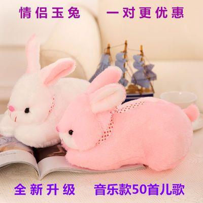 白色粉色玉兔毛绒玩具女生生日礼物儿童玩偶公仔抱枕布娃娃小兔兔