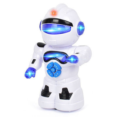 儿童益智机器人T1电动万向带灯光故事机小孩早教机益智早教玩具