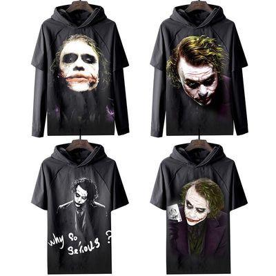 希斯・莱杰 小丑短袖T恤蝙蝠侠男装衣服黑暗骑士 海报面具手办周边