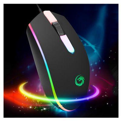 18120/有线鼠标幻狼H03电脑通用发光游戏跑马灯3D防滑防汗可爱光电鼠标