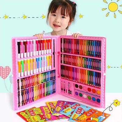 儿童水彩笔绘画套装 礼盒画笔蜡笔幼儿园礼物礼物 小学生美术用品