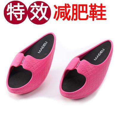日本个性运动减肥鞋夏可爱室内摇摇底防滑美腿坡跟瘦腿减肥拖鞋女