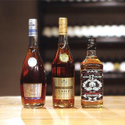 白兰地vsop洋酒组合xo威士忌38度烈酒700ml伏特加酒基酒过节送礼