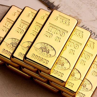 超薄金砖金条打火机创意金块充气个性火石砂轮定制珠宝金店礼品