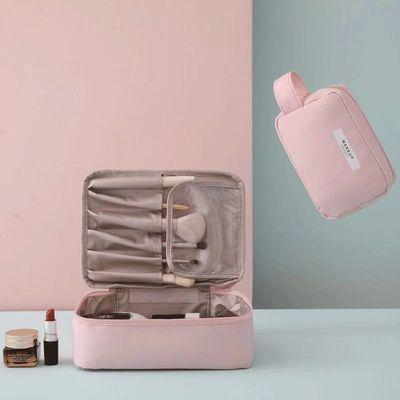网红化妆包ins风超火女小号便携简约大容量化妆袋随身品箱收纳盒