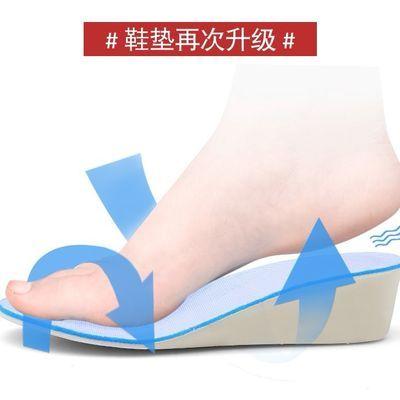 【福建品质气垫】2019秋季新款韩版内增高女鞋厚底坡跟休闲运动鞋