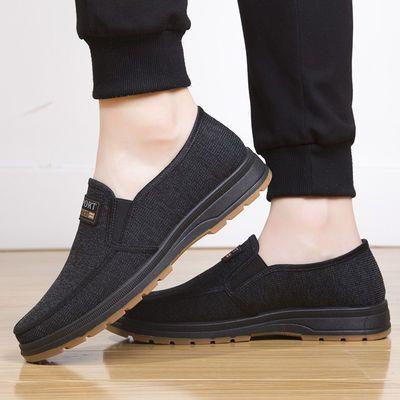 夏季老人鞋男中老年爸爸父亲鞋透气防滑老北京布鞋男网眼网面布鞋