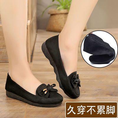 不臭脚上班鞋子女舒适透气鞋底软的女鞋工作小黑鞋女款老北京布鞋