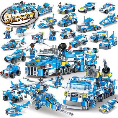 擎天柱汽车合体大黄蜂儿童机器人智力组装高达城市模型乐高积木玩
