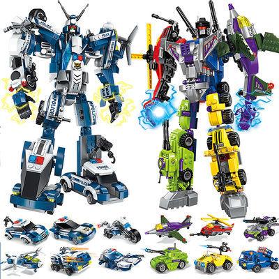 礼物警车乐高积木玩具机器人高达小学生拼图拼接益智智力幼儿园擎