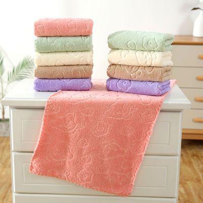 5条装毛巾 成人家用洗脸面巾男女儿童擦头干发巾柔软吸水毛巾批发