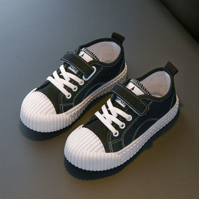 儿童帆布鞋春秋女童鞋宝宝单鞋男童板鞋低帮休闲鞋学生球鞋饼干鞋