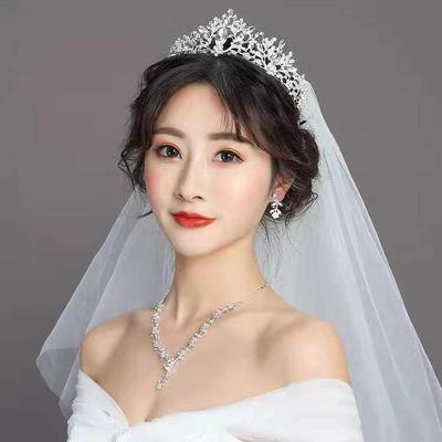 新娘头饰皇冠大气巴洛克结婚礼配饰项链三件套装韩式婚纱饰品