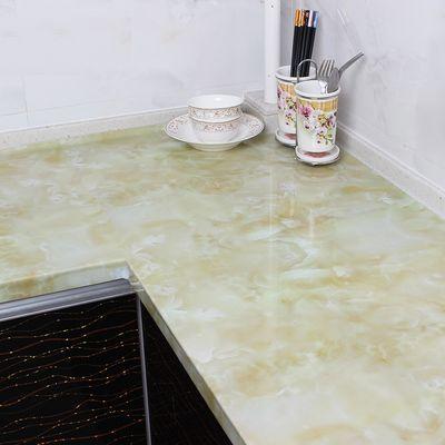 大理石桌面厨房灶台防油浴室防水自粘墙纸橱柜子瓷砖家具翻新贴纸