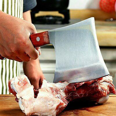 德国进口不锈钢家庭家居家具切片刀砍骨斧头刀家用砍切两用刀斩斧