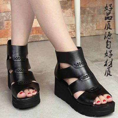 夏新款厚底松糕鞋女