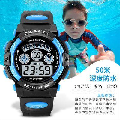 女童学生手表男孩男童夜光防水表中小学生大童小孩运动儿童电子表