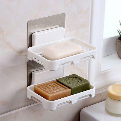 【365天 掉了可赔】浴室免打孔肥皂架强力无痕贴沥水置物架肥皂盒