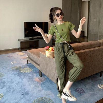 加长裤子女高个子迷彩短袖女军绿色工装裤休闲短袖女工装裤女夏季