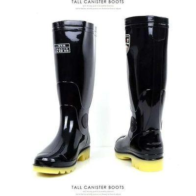 男士高筒雨鞋上海双钱牌耐磨防滑劳保雨靴耐酸碱加厚耐腐蚀防水鞋