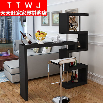 吧台桌家用转角吧台桌酒柜客厅餐厅隔断柜靠墙简易简约现代小吧台