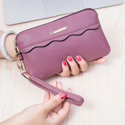 2019新款女士手包时尚手机包韩版长款钱包百搭手拿包包潮流手腕包