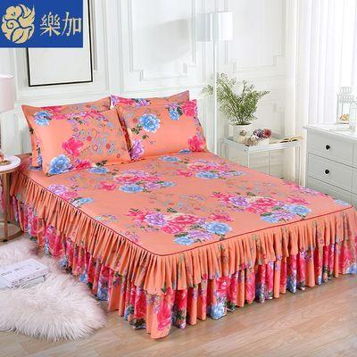 乐加韩版双边床裙公主风防滑床单床罩单件被罩席梦思保护套床围