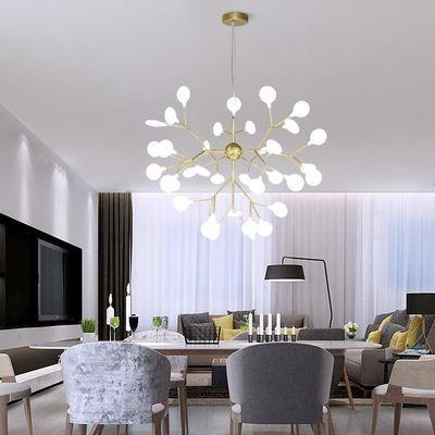 北欧吊灯后现代简约创意个性温馨卧室灯客厅灯树枝网红萤火虫灯具