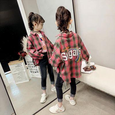 女童格子衬衫2020新款春装韩版中大童儿童衬衣春秋款长袖洋气外套