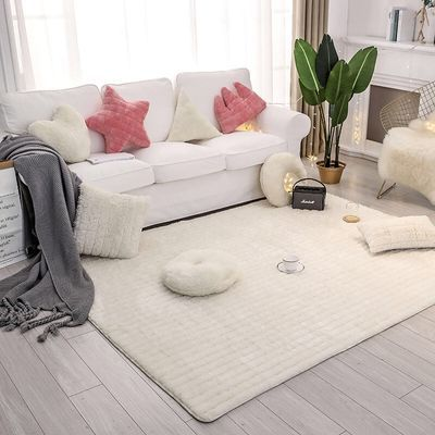 卧室地摊满铺床边毯床前厚家用客厅茶几长方形长毛绒地垫脚垫定制