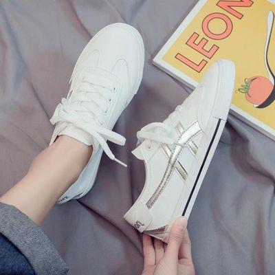 鞋子女2019夏款新款小白鞋韩版百搭平底白鞋夏季港风板鞋秋款潮鞋
