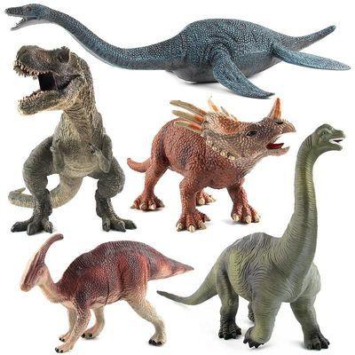 侏罗纪恐龙系列 蛇颈龙 暴王龙 塑胶静态恐龙玩具模型 多款可选