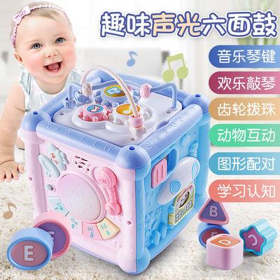 宝宝拍拍鼓益智六面体音乐多面鼓0一1岁手拍鼓婴幼儿童早教玩具