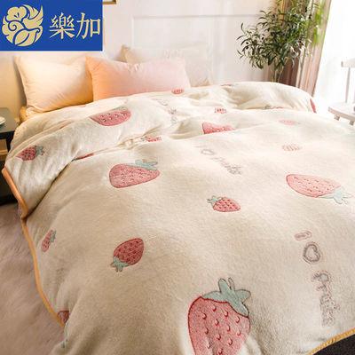 乐加网红珊瑚绒毯子毛毯被子盖毯冬季绒床单人毛巾被空调午睡毯