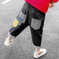 童装儿童男春秋牛仔裤韩版男童宽松萝卜裤童裤宝宝长裤时尚中小童