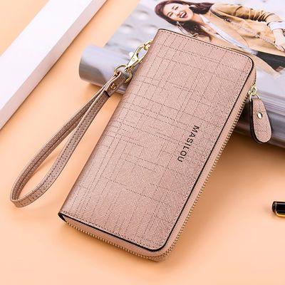 玛狮路2019新款时尚韩版女士钱包女长款拉链钱夹大容量牛皮手拿包