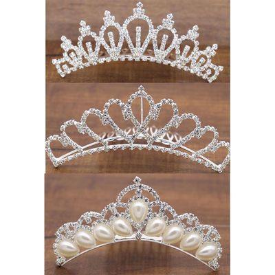 儿童头饰皇冠发夹发箍公主水钻头箍韩国女童发卡宝宝王冠发梳插梳