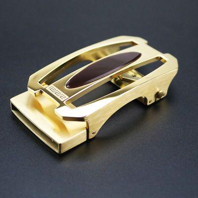 3.6时尚不锈钢镶嵌宝石自动扣男士休闲纯钢腰带工厂现货黑色皮带