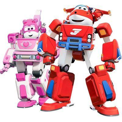 新超级飞侠大号变形机器人套装全套乐迪多多包警长机器人儿童玩具