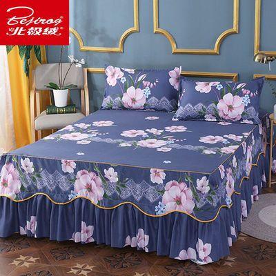 【北极绒正品】不褪色床裙单件不缩水席梦思公主风床罩1米2米床