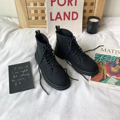 【亏本冲量】马丁靴复古磨砂平底圆头短靴女学生韩版百搭机车靴