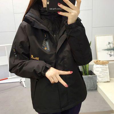 豹迹冲锋衣男女三合一可拆卸户外服装登山服春秋潮牌韩国防风外套