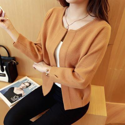 秋装外套女2019新款韩版宽松针织衫女开衫短款毛衣女装上衣潮春