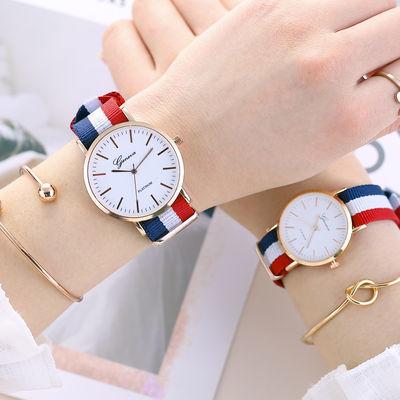 我们的少年时代手表女学生韩版简约时尚潮男潮流情侣手表一对手表