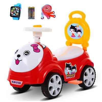 儿童扭扭车带音乐四轮滑行车玩具车可坐人1-3岁宝宝溜溜车摇摆车