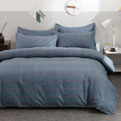 四件套床上用品加厚植物羊绒磨毛秋冬季被套床单三件套学生宿舍