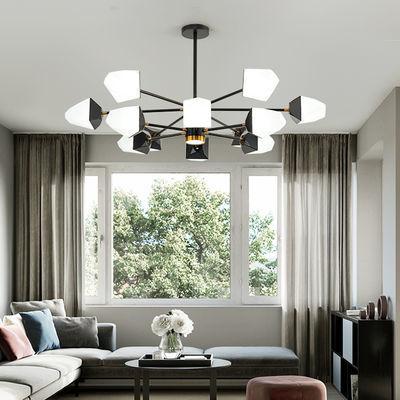 北欧客厅灯吊灯创意个性餐厅卧室冰块灯简约现代家用大气魔豆灯具