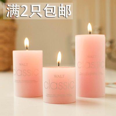 香薰蜡烛 去烟去异味浪漫无烟欧式创意精油spa 熏香圆柱烛光晚餐