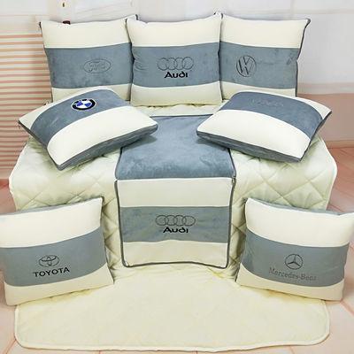 抱枕被子两用靠垫汽车用品车载折叠抱枕被开车舒适毯子车内空调被